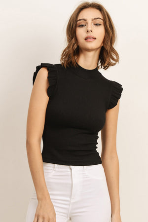 Lauren Knit Top - Black