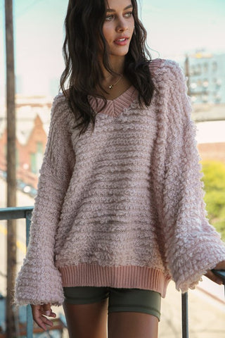 Noelle Sweater - Rose