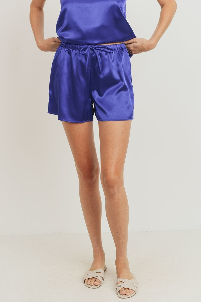 Sia Satin Shorts - Royal Blue