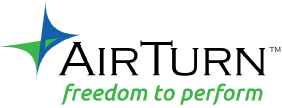 Airturn creates wireless foot switch solutions for tablets, smart phones and computers. Use AirTurn in the music studio, kitchen, office, presentations and classroom.