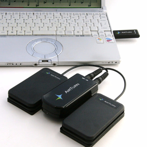 B-Stock AirTurn AT-104 Wireless Dual Pedals for Mac and PC with MusicReader PDF LITE Software