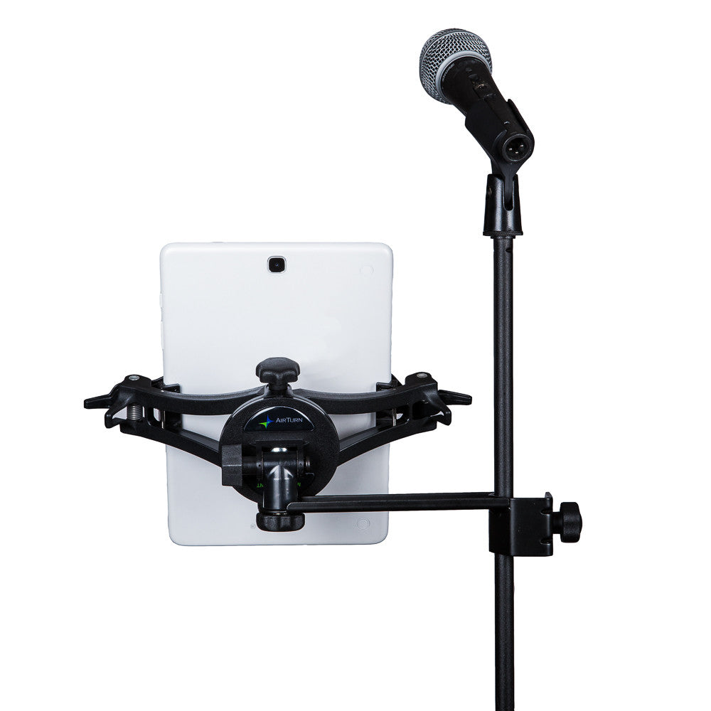 AirTurn MANOS tablet holder with Side Mount Clamp