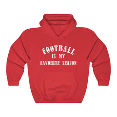 Football is my Favorite Season Unisex Heavy Blend Hooded Sweatshirt