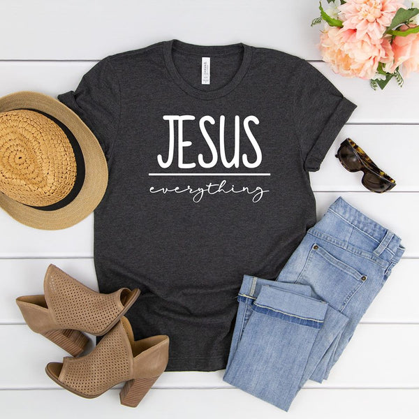 Jesus over Everything Unisex Jersey Short Sleeve Tee