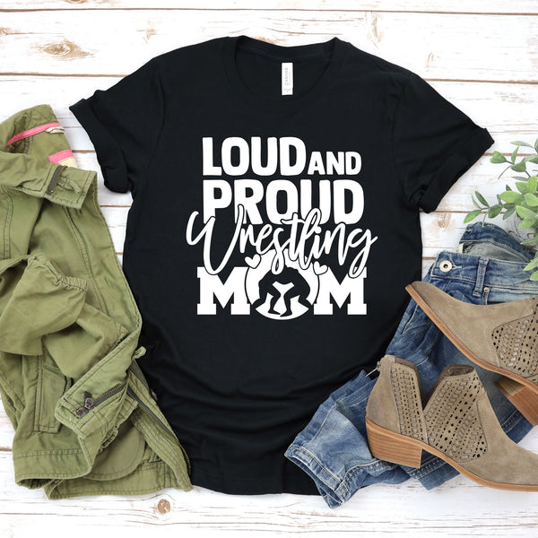 Loud and Proud Wrestling Mom Unisex Jersey Short Sleeve Tee