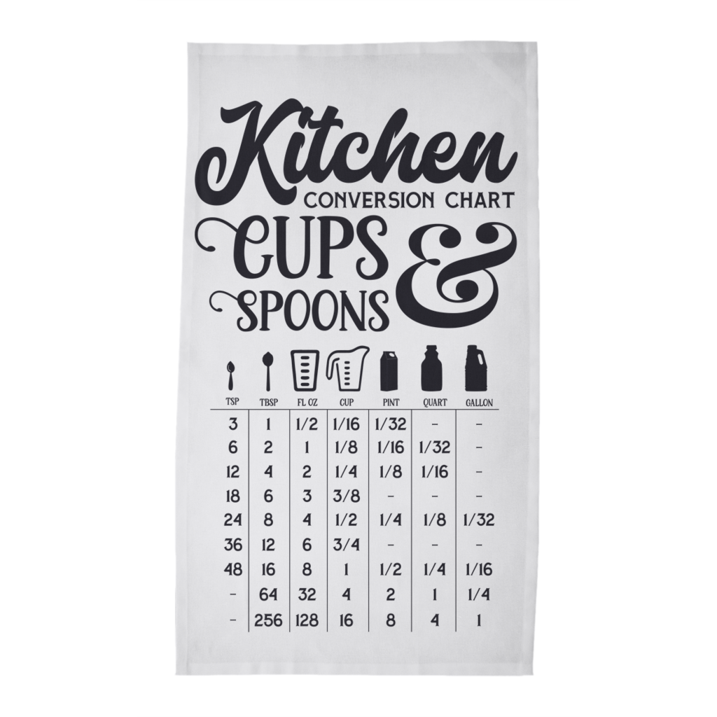 Kitchen Conversion Chart Tea Towels