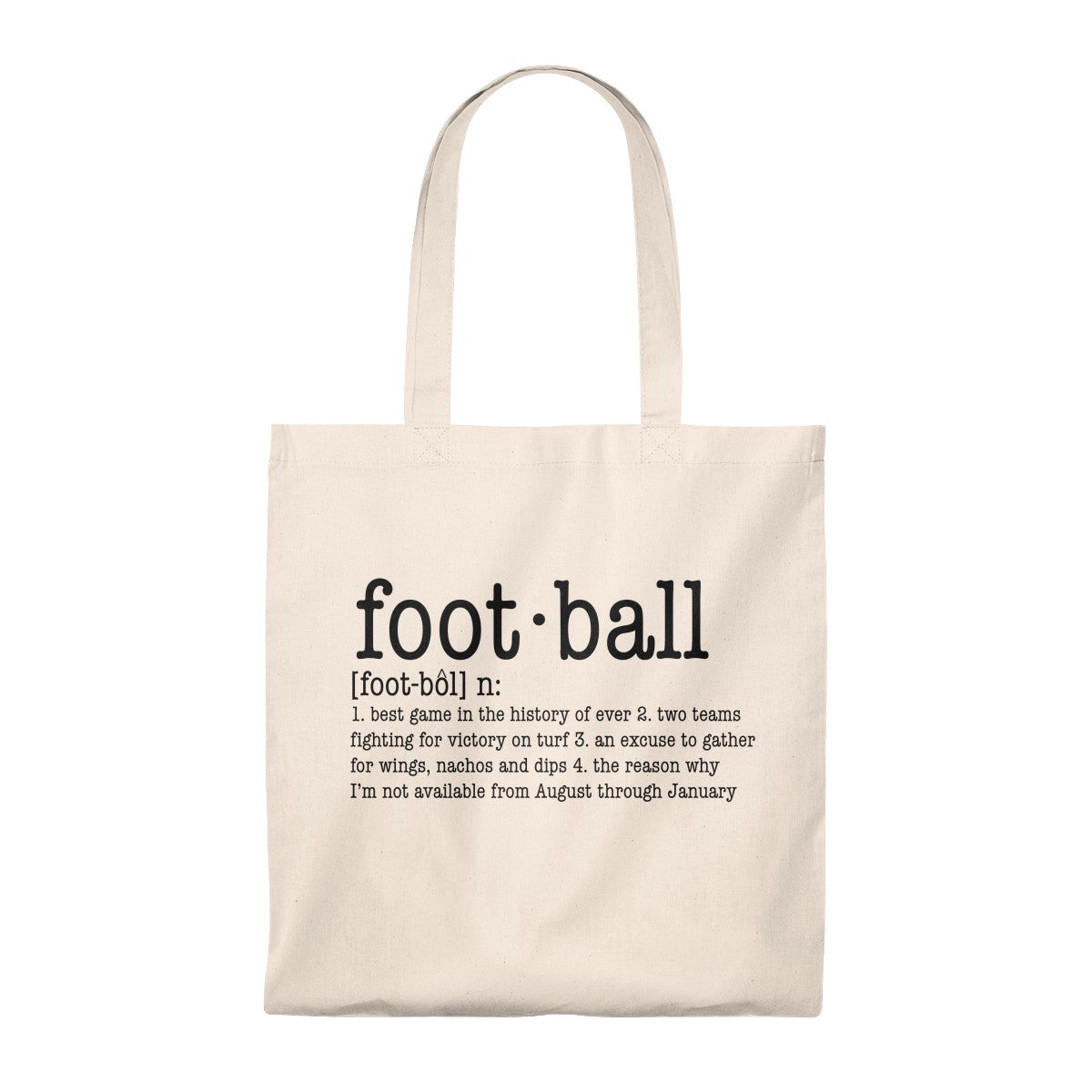 Definition of Football Tote Bag - Vintage