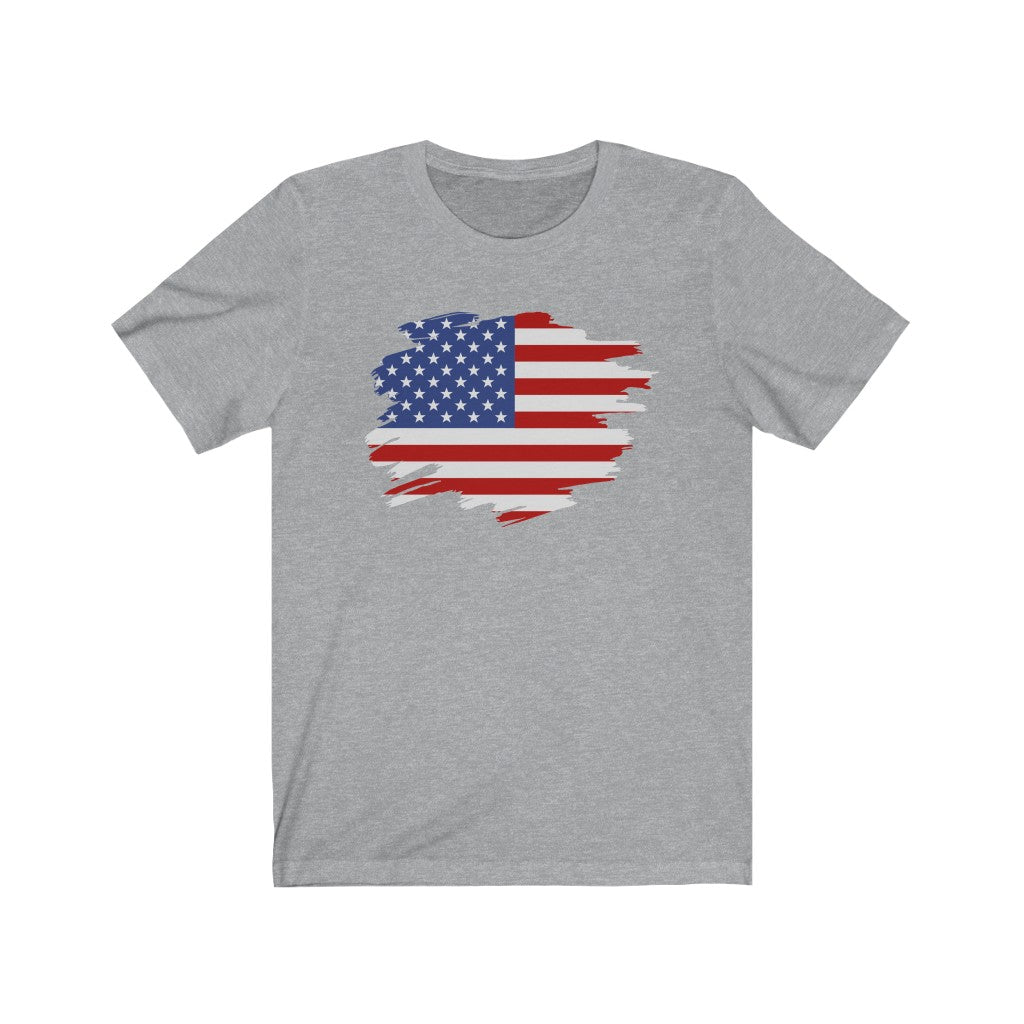 Distressed American Flag Unisex Jersey Short Sleeve Tee