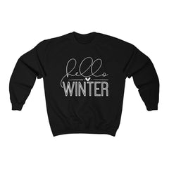 Hello Winter Unisex Heavy Blend™ Crewneck Sweatshirt