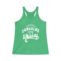 Sunshine and Whiskey Women's Tri-Blend Racerback Tank