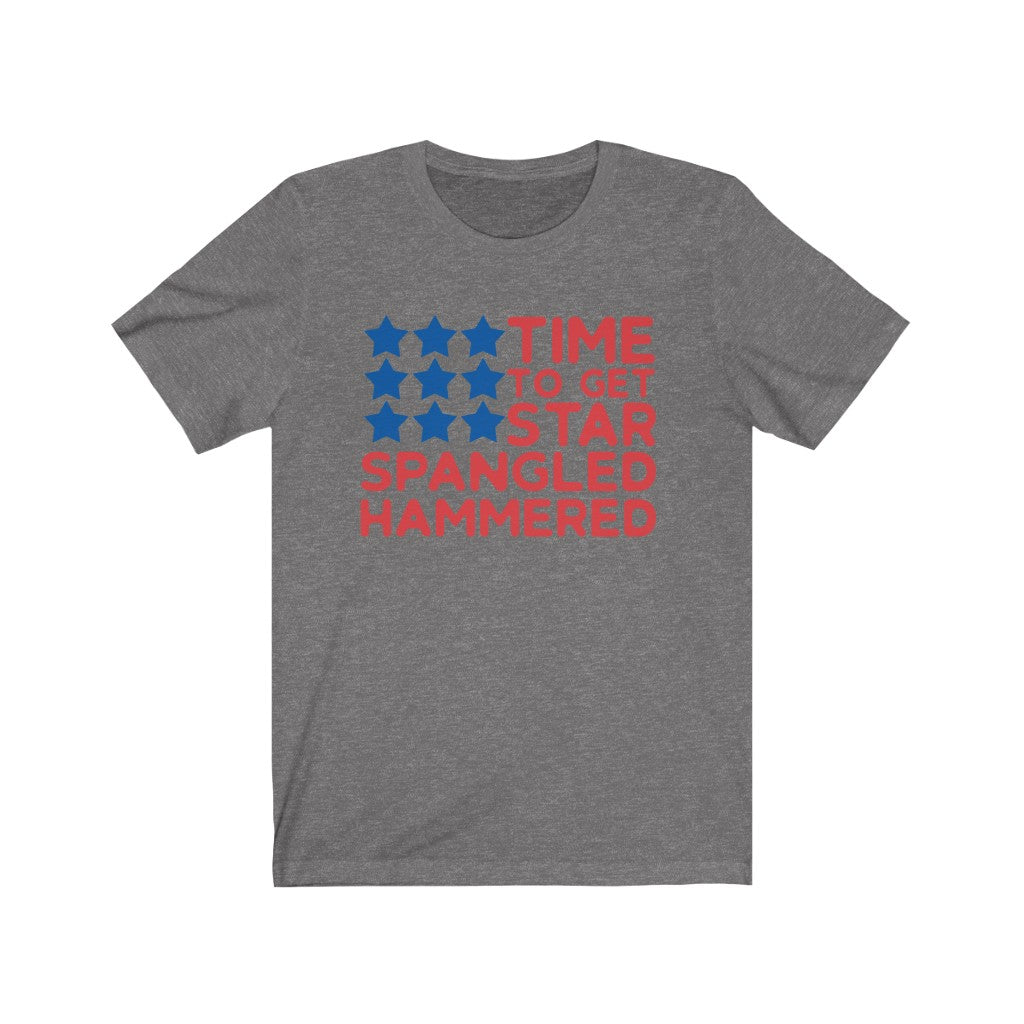 Time to get Star Spangled Hammered Unisex Jersey Short Sleeve Tee