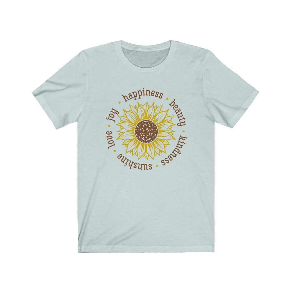 Happiness Joy Love Unisex Jersey Short Sleeve Tee