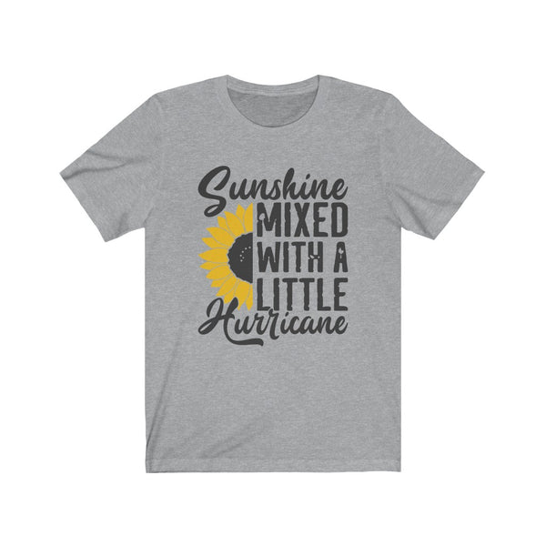 Sunshine Mixed With a Little Hurricane Unisex Jersey Short Sleeve Tee