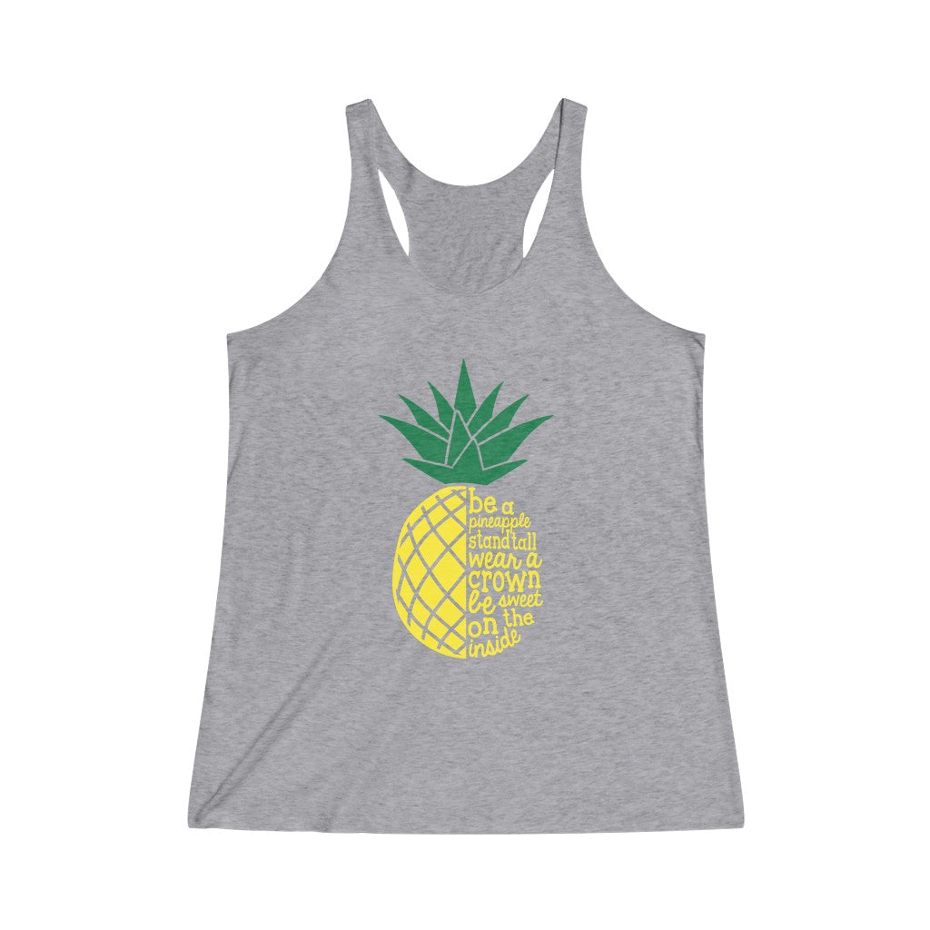 Pineapple Women's Tri-Blend Racerback Tank