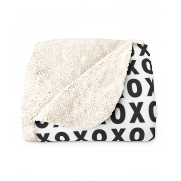 XOXO Sherpa Fleece Blanket