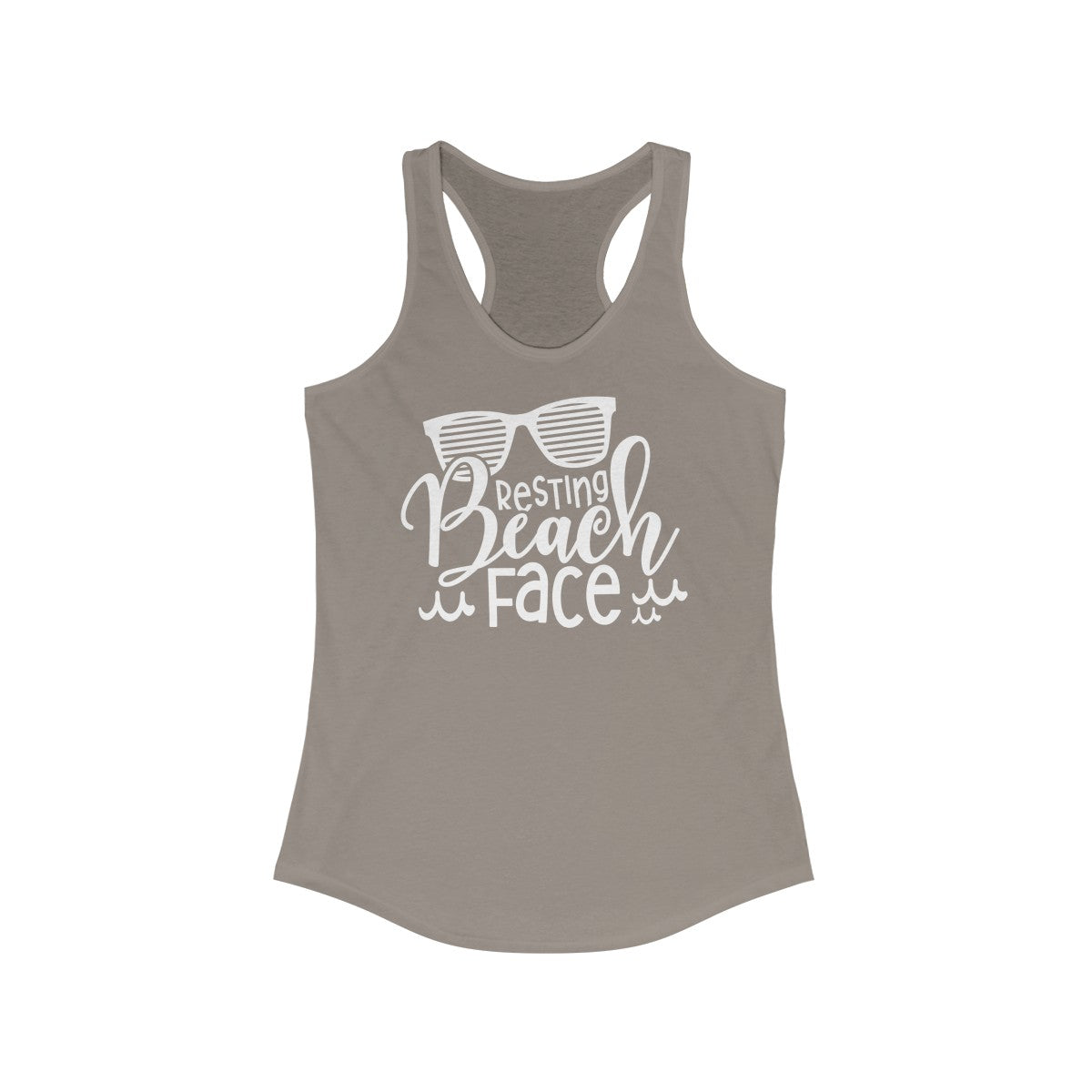 Resting Beach Face Women's Ideal Racerback Tank