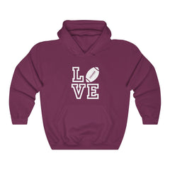 Love Football Unisex Heavy Blend Hooded Sweatshirt