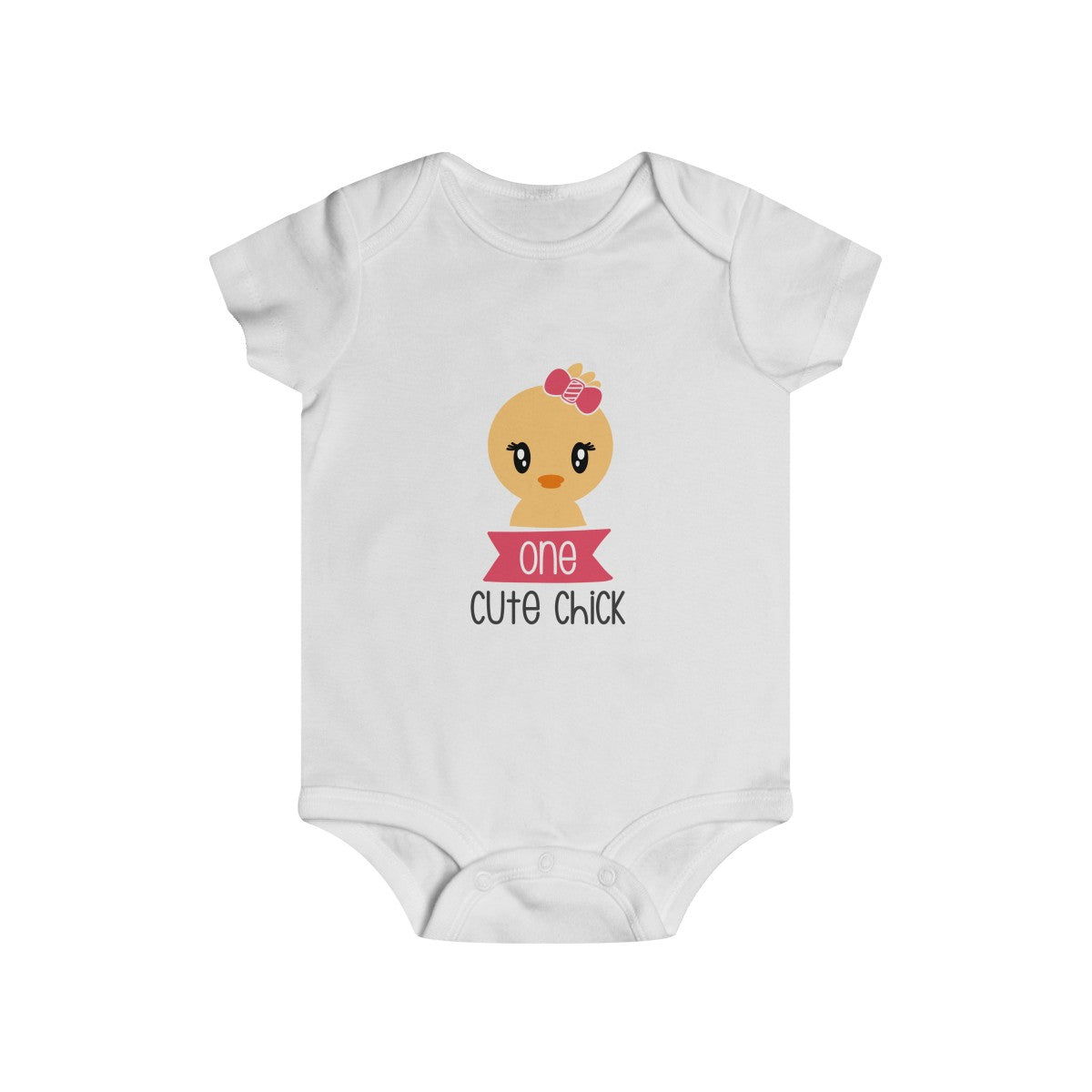 One Cute Chic Infant Rip Snap Tee