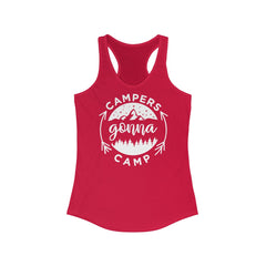 Campers Gonna Camp Women's Ideal Racerback Tank
