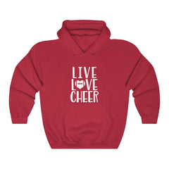 Live Love Cheer Unisex Heavy Blend Hooded Sweatshirt