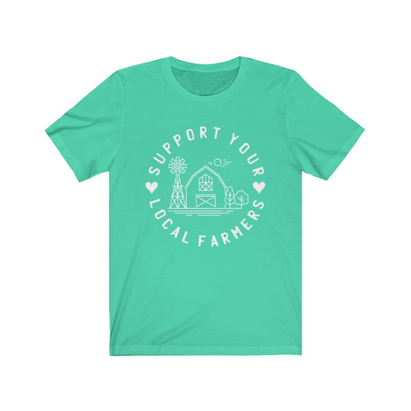 Support Your Local Farmers Unisex Jersey Short Sleeve Tee