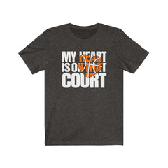 My heart is on that court Unisex Jersey Short Sleeve Tee