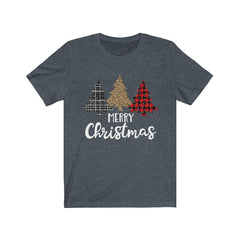 Patterned Merry Christmas Unisex Jersey Short Sleeve Tee