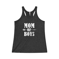 Mom of Boys Tri-Blend Racerback Tank
