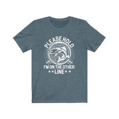 Please Hold, I'm on the other line Unisex Jersey Short Sleeve Tee