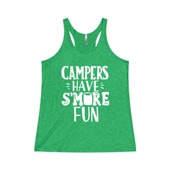 Campers Have Smore Fun Women's Tri-Blend Racerback Tank