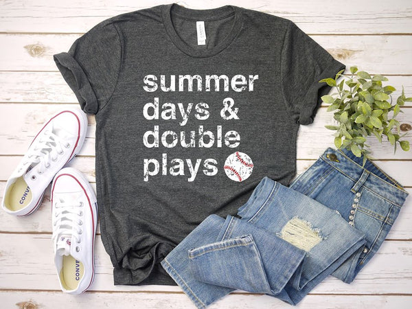 Summer Days and Double Plays Unisex Jersey Short Sleeve Tee