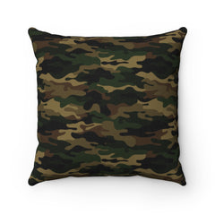 Camo Spun Polyester Square Pillow Case