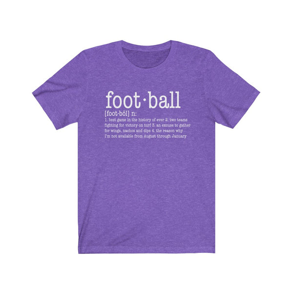 Definition of Football Unisex Jersey Short Sleeve Tee