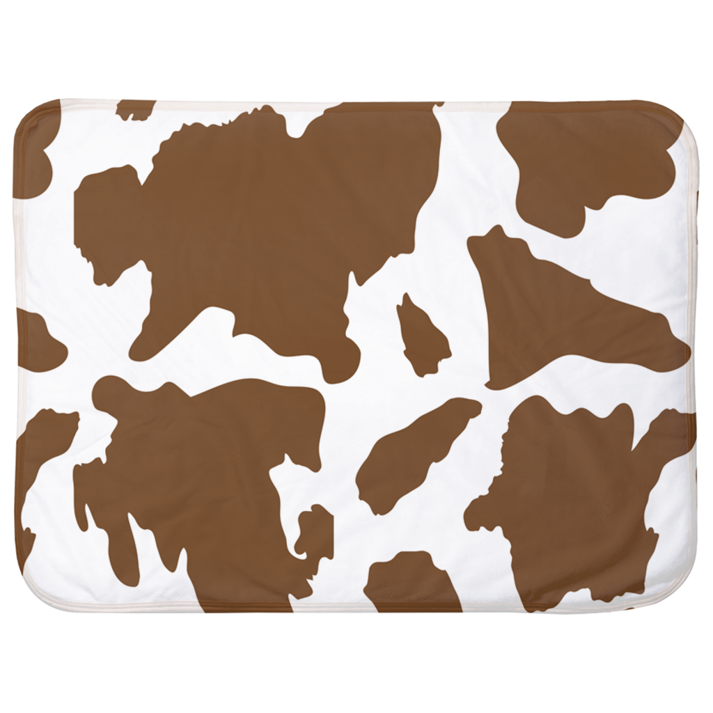 Brown Cow Baby Sherpa Blanket