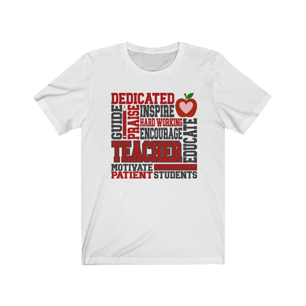 Teacher Subway Art Unisex Jersey Short Sleeve Tee