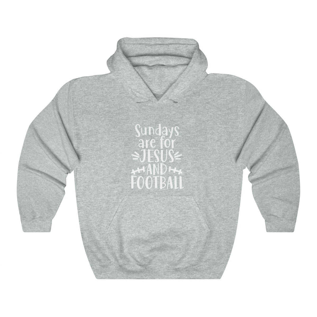 Sundays are for Jesus and Football Unisex Heavy Blend Hooded Sweatshirt