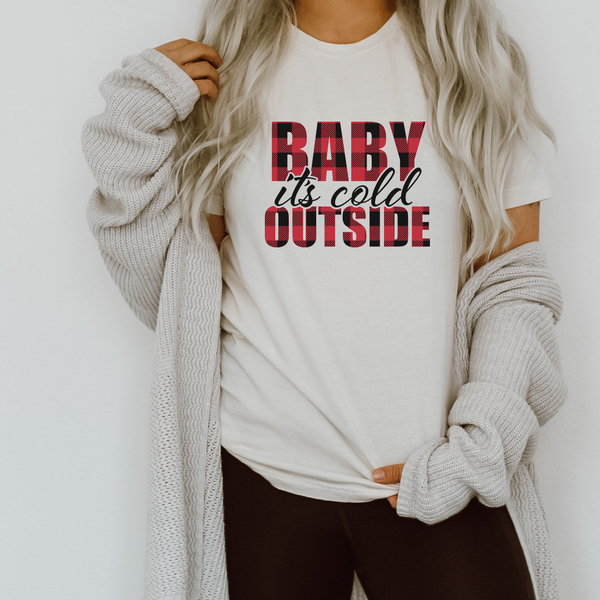 Baby It's Cold Outside Jersey Short Sleeve Tee