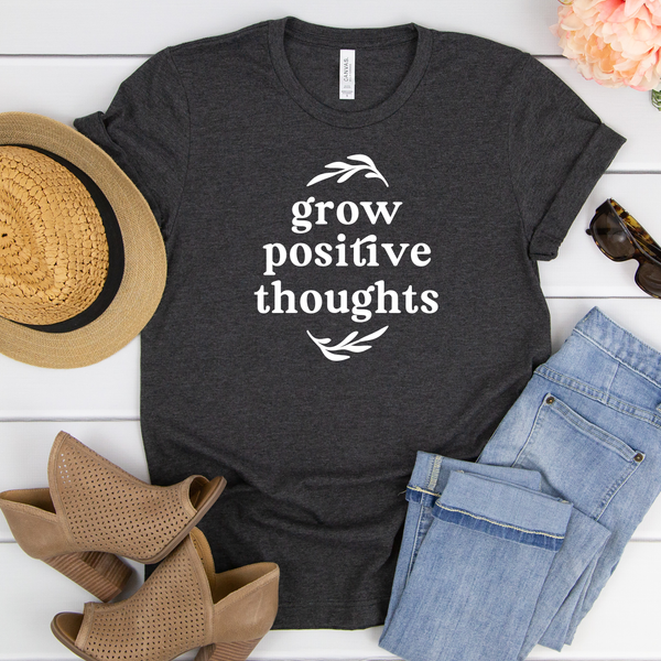 Grow Positive Thoughts Unisex Jersey Short Sleeve Tee
