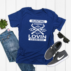 Hunting Fishing Loving Everyday Jersey Short Sleeve Tee