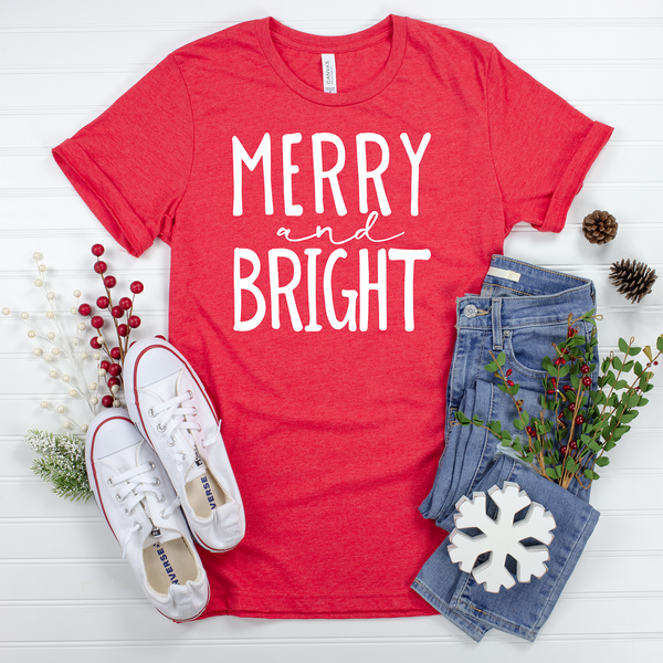 Merry and Bright Unisex Jersey Short Sleeve Tee