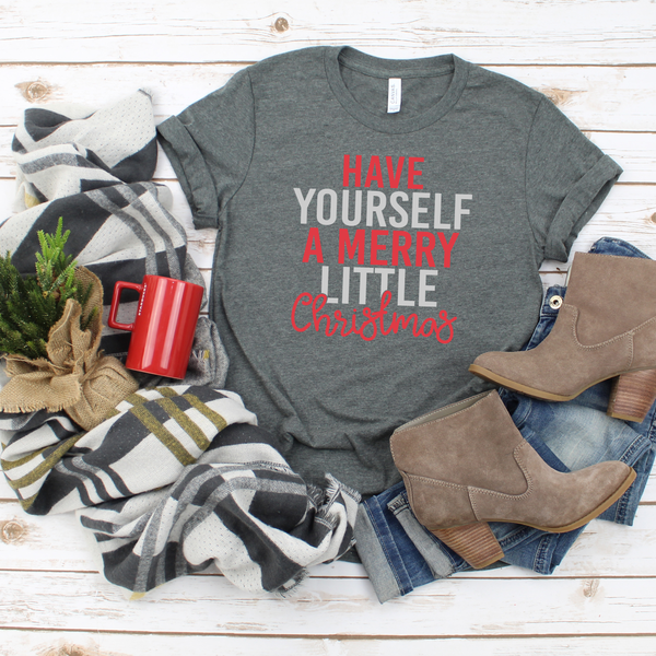 Have Yourself a Merry Little Christmas Jersey Short Sleeve Tee