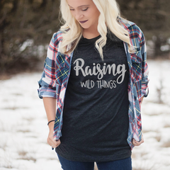 Raising Wild Things Unisex Jersey Short Sleeve Tee