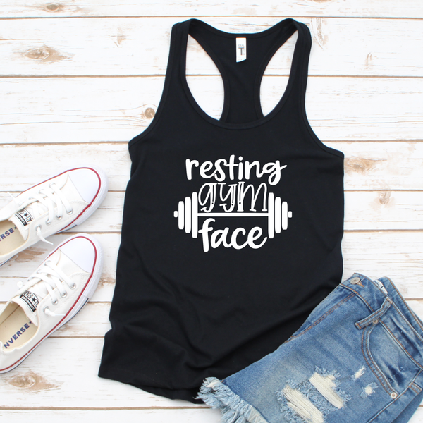 Resting Gym Face Women's Tri-Blend Racerback Tank