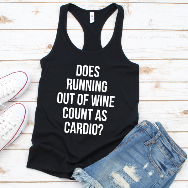 Running out of Wine Women's Tri-Blend Racerback Tank