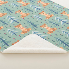 Woodland Bear Minky Blanket