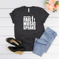When word's fail music speaks Jersey Short Sleeve Tee