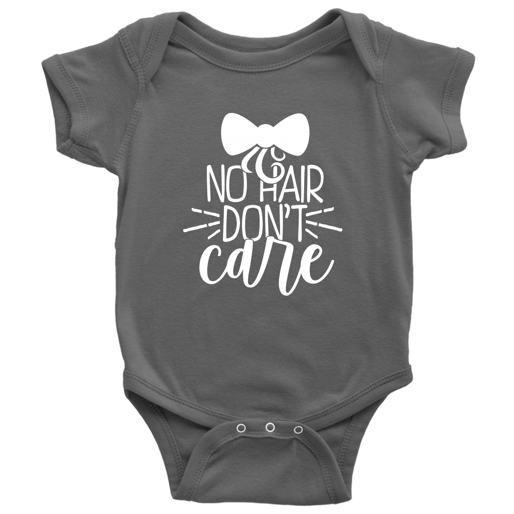 No Hair Dont Care Onesie