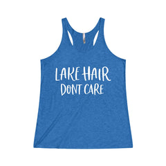 Lake Hair Dont Care Women's Tri-Blend Racerback Tank