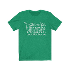 Grandpa Shark Jersey Short Sleeve Tee