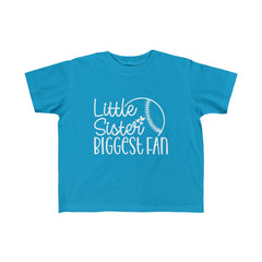 Little Sister Biggest Fan Kid's Fine Jersey Tee